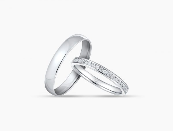 Love and Co Wedding Bands LDR1416 Couple
