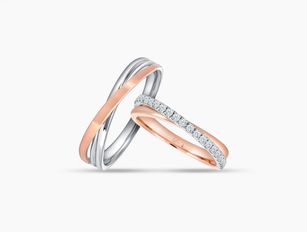Love and Co Wedding Bands LDR1459 Couple
