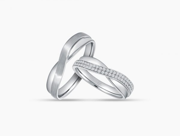 Love and Co Wedding Bands LDW460B Couple