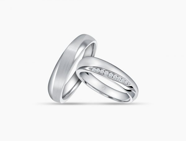Love and Co Wedding Bands LDW468B Couple