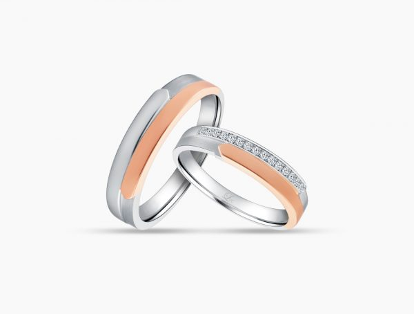 Love and Co Wedding Bands LDW489B Couple