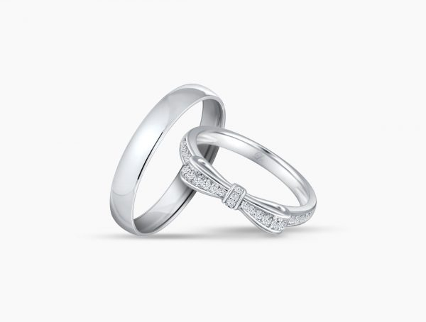 Love and Co Wedding Bands LDW586B Couple