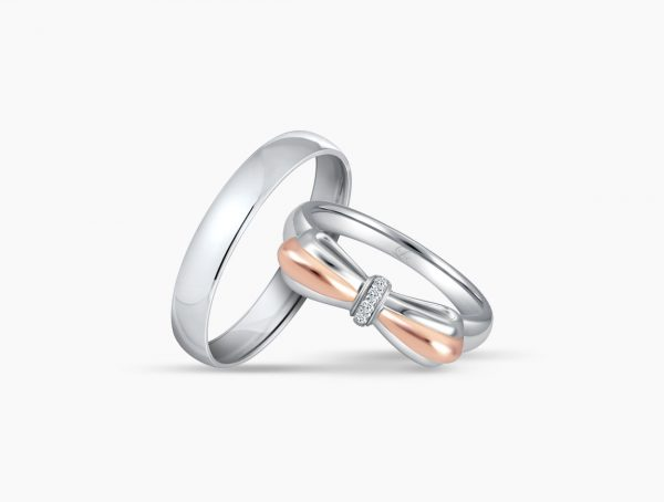 Love and Co Wedding Band LDW587B Couple