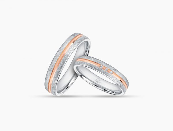 Love and Co Wedding Bands LDW640A Couple