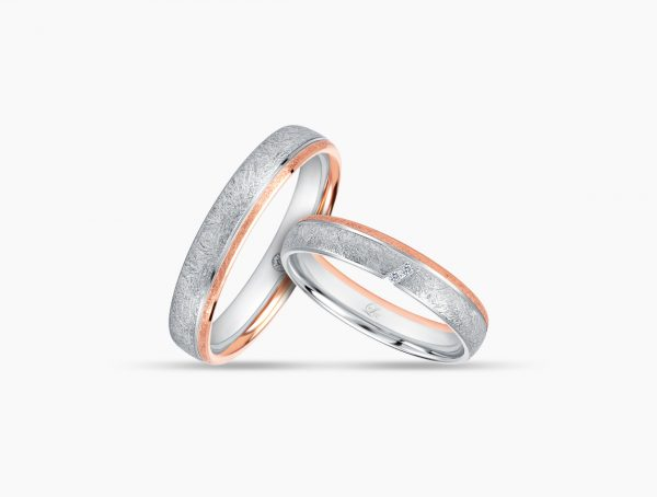 Love and Co Wedding Bands LDW642 Couple