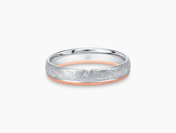 Love and Co Wedding Bands LDW642B