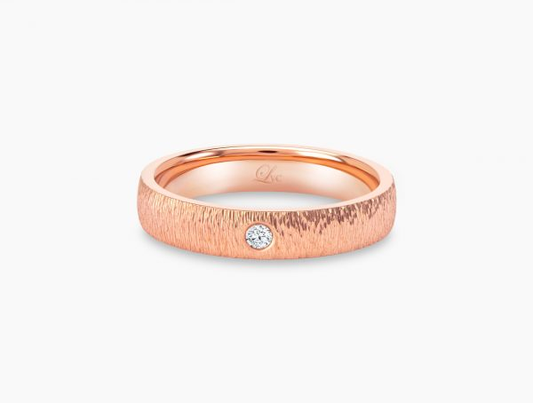 Love and Co Wedding Bands LDW643B