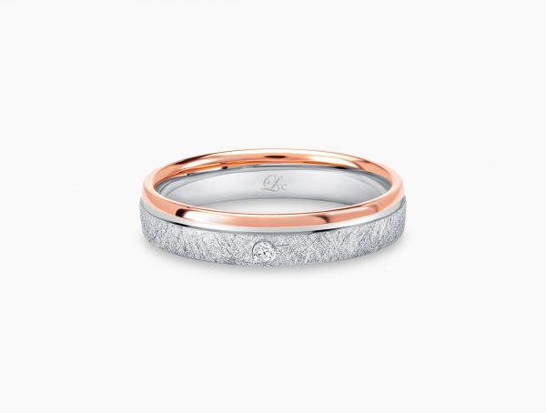 Love and Co Wedding Bands LDW644B