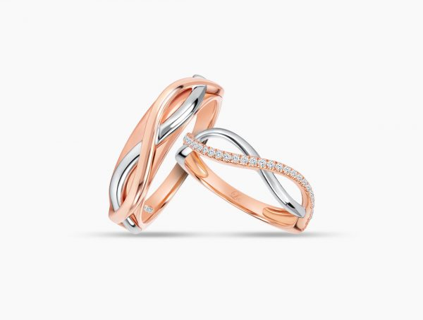 Love and Co Wedding Band LDW645 Couple