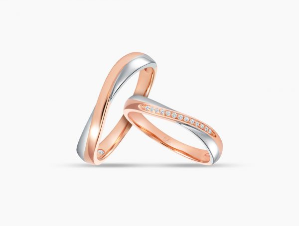 Love and Co Wedding Bands LDW647 Couple