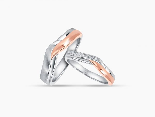 Love and Co Wedding Bands LDW648 Couple
