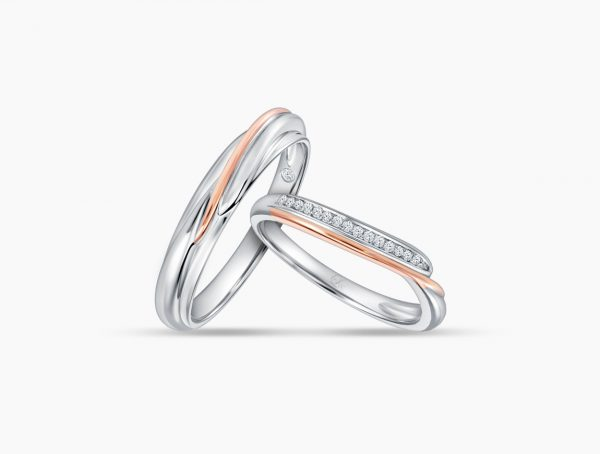 Love and Co Wedding Bands LDW652 Couple