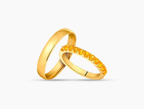 Love and Co Wedding Band LTW132 YG Couple
