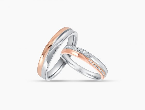 Love and Co Wedding Bands LTW257A Couple