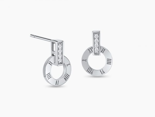 Love and Co Gifts SDE02349 White Gold