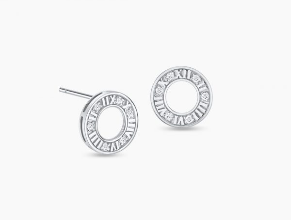 Love and Co Gifts SDE02350 White Gold